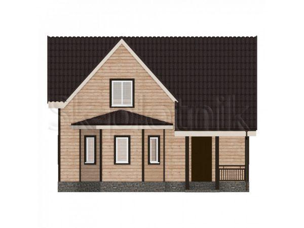 Дом из бруса 8х9 с эркером Д-25. Картинка №1