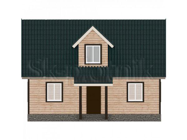 Дом из бруса Д-27. Картинка №1