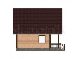 Дом из бруса с балконом Д-33
