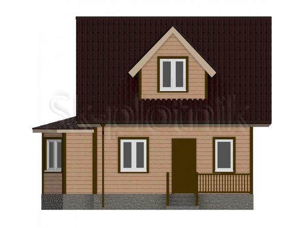 Дом из бруса 6х8 с эркером Д-42. Картинка №1