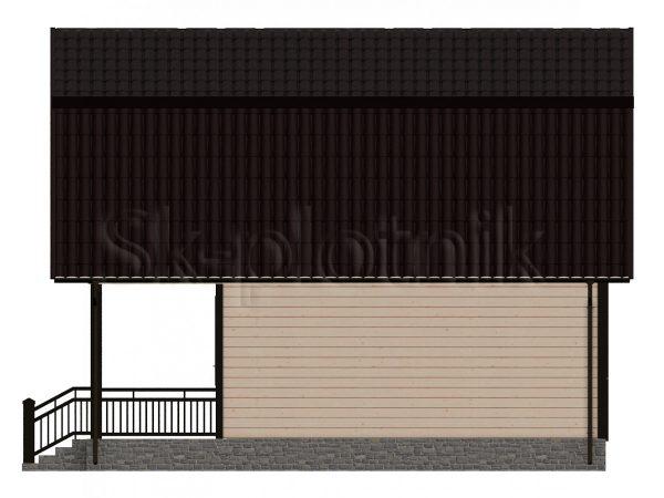 Дом 6х8 из бруса Д-2. Картинка №1