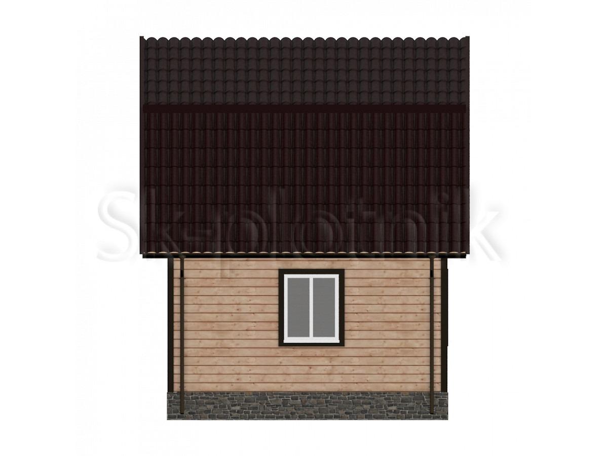 Дом из бруса  Д-6