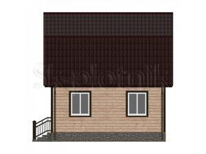 Дом из бруса с мансардой Д-12