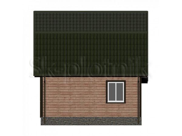 Дом из бруса с мансардой Д-13. Картинка №1
