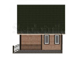 Дом из бруса с мансардой Д-14