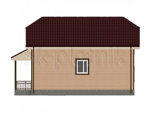 Дом из бруса с эркером Д-26. Картинка №1