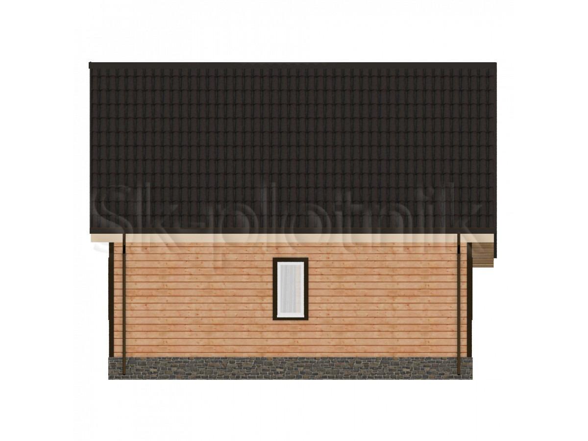 Дом из бруса с мансардой Д-35
