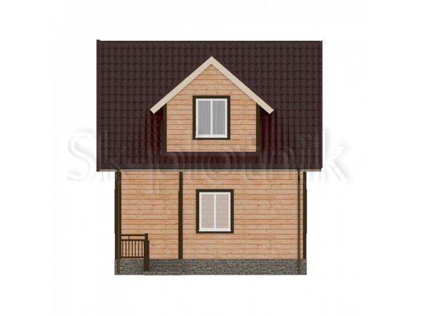 Дом из бруса с санузлом Д-36. Картинка №1