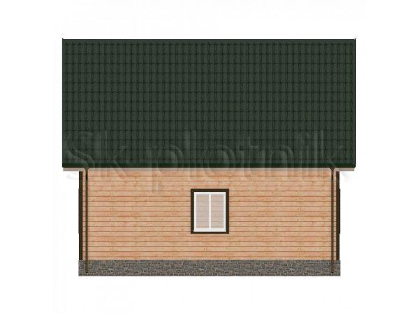 Дом 8х8 с мансардой из бруса Д-39. Картинка №1