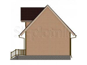Дом из бруса 6х8 с эркером Д-42