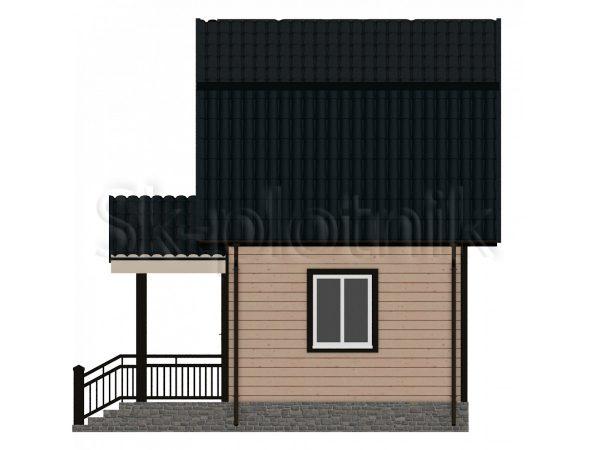 Небольшой дом из бруса 4х5 Д-3. Картинка №1