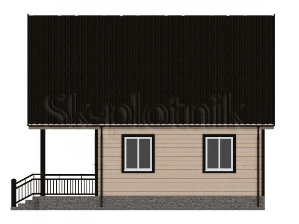 Дом из бруса 6х8 с мансардой Д-4. Картинка №1