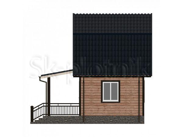 Дом 6х6 из бруса с мансардой Д-7. Картинка №1