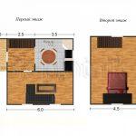 Дом из бруса с мансардой Д-13. Миниатюра №1