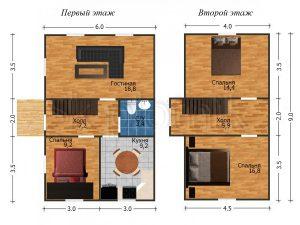 Дом из бруса Д-27