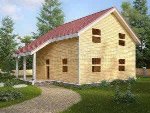 Дом из бруса с котельной ДС-34