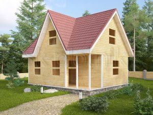 Дом из бруса с мансардой ДС-45