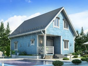 Каркасный дом с котельной ДК-58