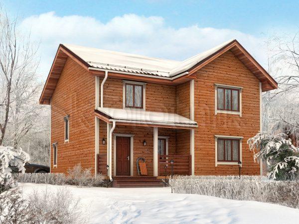 Дом из бруса с котельной Д-59. Картинка №1