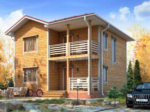 Двухэтажный каркасный дом ДК-61