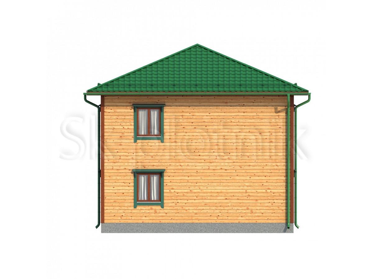 Дом из бруса с балконом Д-61