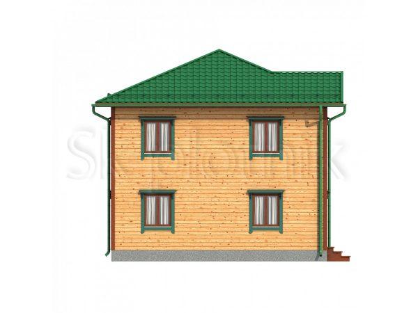 Двухэтажный дом 8х8 из бруса Д-61. Картинка №1