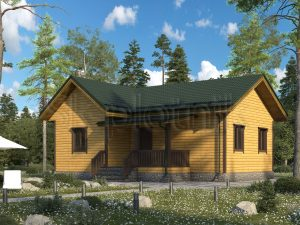 Проект дома из бруса 8x10 Д-81