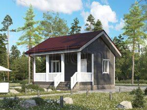 Небольшой каркасный дом ДК-84 6 на 6 м
