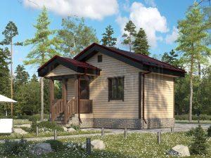 Одноэтажный дом 4х6 дачный Д-85