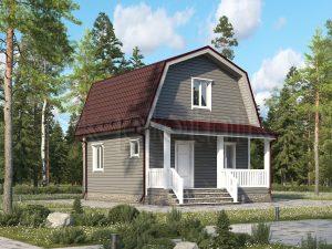 Дом 6х6 каркасный ДК-73