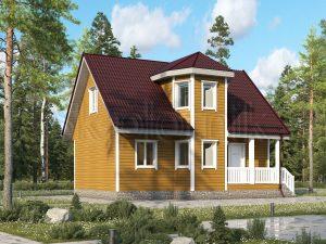 Каркасный дом 7х9 ДК-70
