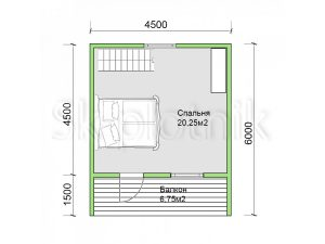 Дом из бруса 6х6 Д-83