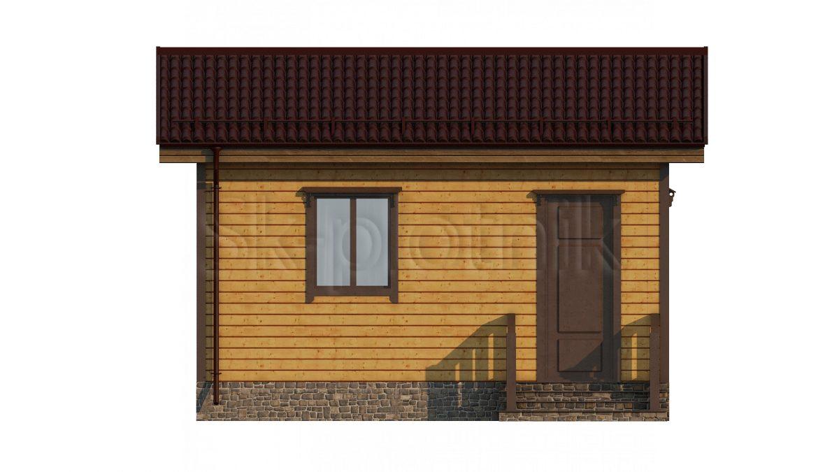 Дом из бруса 3х6 Д-72