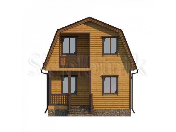 Дом из бруса 6х8 Д-74. Картинка №1