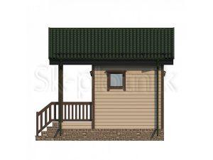 Дом из бруса 5х4,5 Д-75