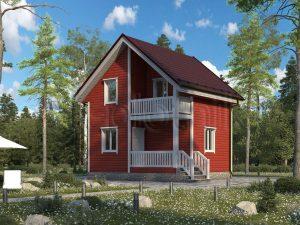 Каркасный дом 6х6 ДК-88