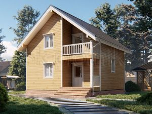 Дом из бруса 7,5х7,5 Д-89