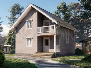 Каркасный дом 7,5х7,5 ДК-89