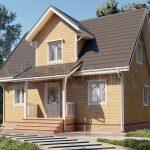 Дом из бруса 6х9 Д-91. Миниатюра №1