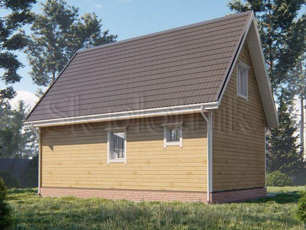 Дом из бруса 6х9 Д-91. Картинка №1
