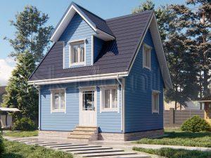 Каркасный дом 6х6 ДК-104