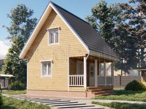 Маленький дом из бруса со вторым этажом 6х6 Д-105