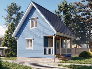Каркасный дом 6х6 ДК-105