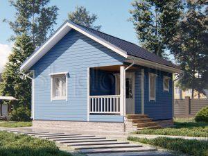 Каркасный дом 6х6 ДК-106