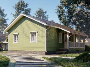 Каркасный дом 9х9 ДК-99