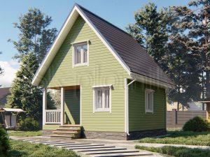 Деревянный каркасный дом 6х6 ДК-102