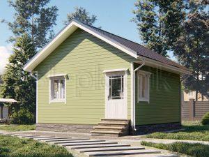 Каркасный дом 6х6 ДК-103