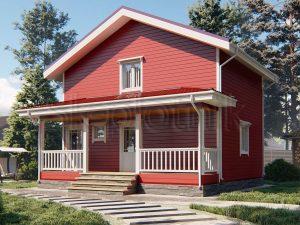 Каркасный дом 7,5х8 ДК-96