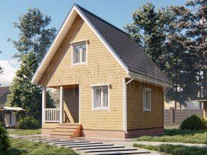 Деревянный дом из бруса 6х6 Д-102