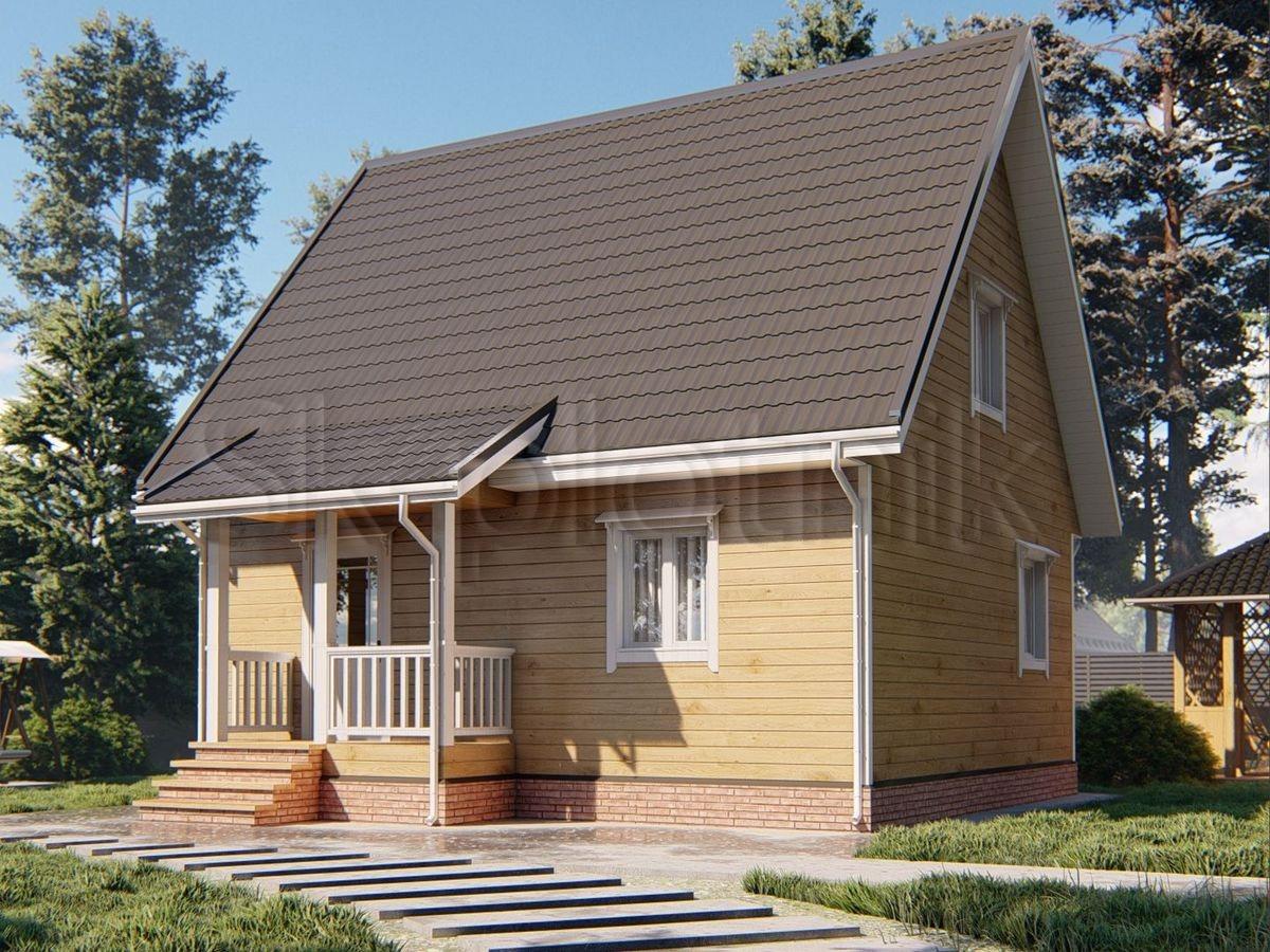 Дом из бруса 7х8 Д-95 | СК Плотник  Дом из Бруса 7х8